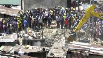 Összeomlott egy háromemeletes épület Nigériában