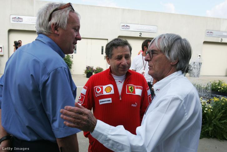 Charlie Whiting 2005-ben Jean Todttal és Bernie Ecclestone-nal