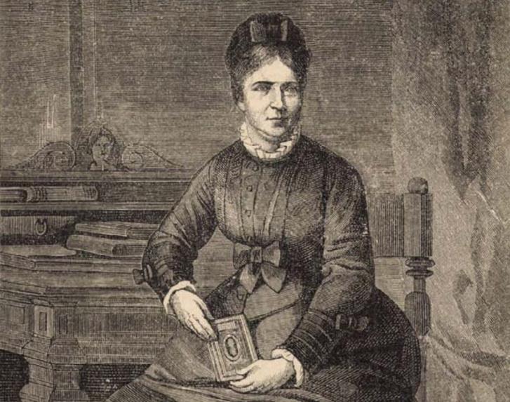Damjanich Jánosné. Forrás: Vasárnapi Ujság 1877. január 28. / Arcanum adatbázis