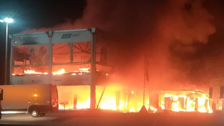 Garázstűzben leégett a MotoE össszes motorja