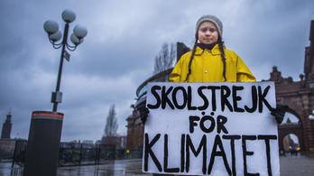 Nobel-békedíjra jelölték Greta Thunberg, 16 éves svéd környezetvédőt