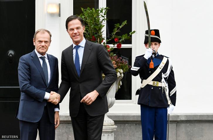 Donald Tusk, az Európai Tanács elnöke találkozott Mark Rutte dán miniszterelnökkel 2019. március 15-én