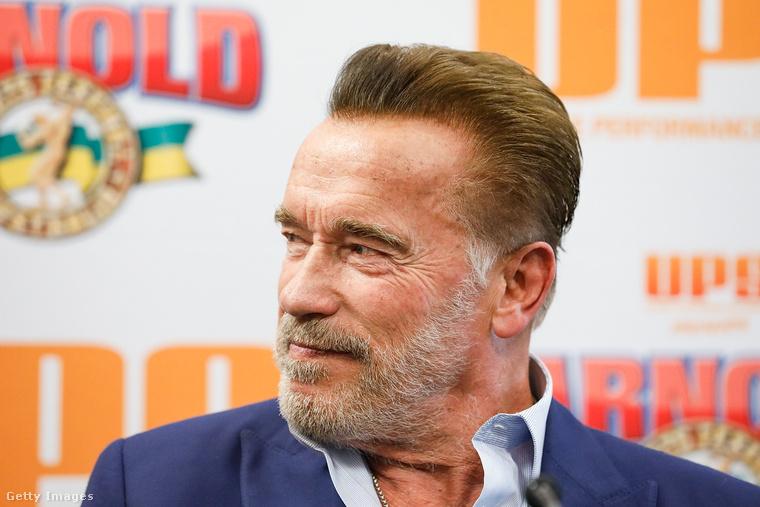 Arnold Schwarzenegger Melbourne-ben tájékoztatja a sajtót 2019. március 15-én.