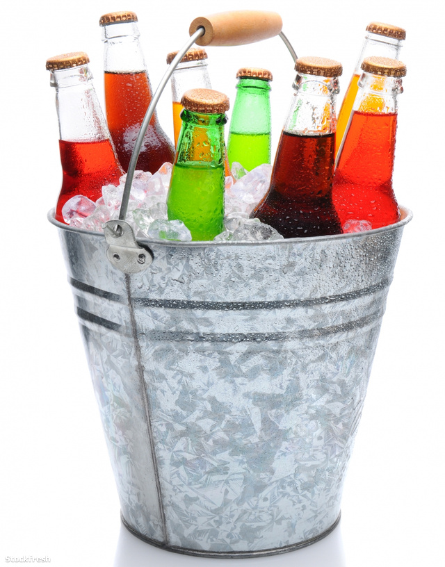 stockfresh 1549411 assorted-soda-bottles-in-ice-bucket sizeM