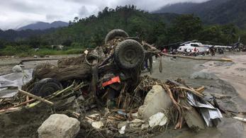 Legalább ötvenen meghaltak árvízben az indonéziai Pápua tartományban