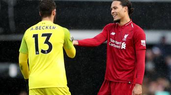 Blőd hiba a 75 milliós Liverpool-kapustól, még nagyobb az ellenféltől
