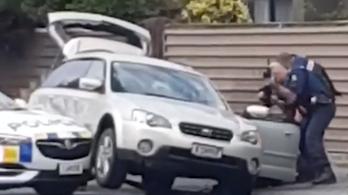 Videó került elő az új-zélandi terrorista elfogásáról