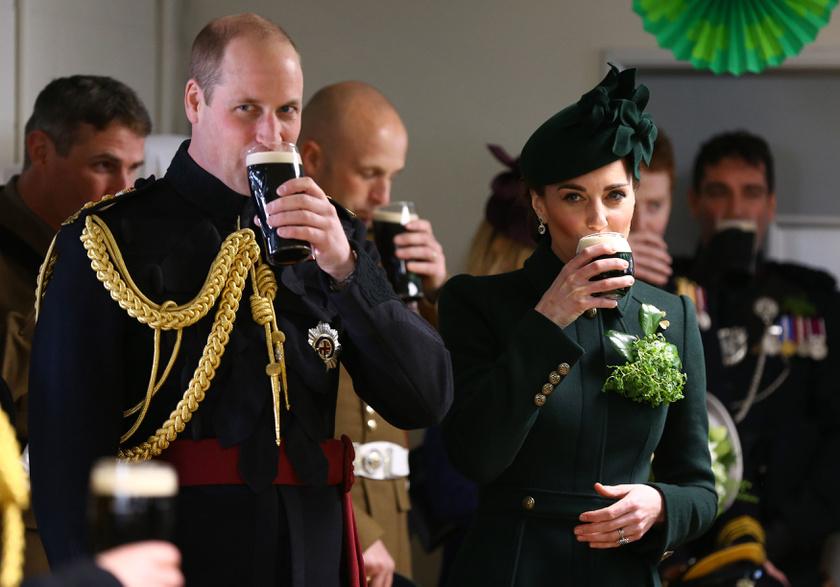 Szent Patrik napján még a hercegi pár sem hagyhatja ki a sörözést.