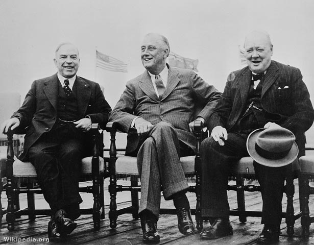 Mackenzie King, Franklin D. Roosevelt és Winston Churchill