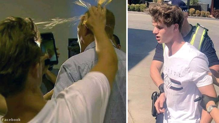 Will Connolly, más néven Egg Boy akció közben, és letartóztatás után
