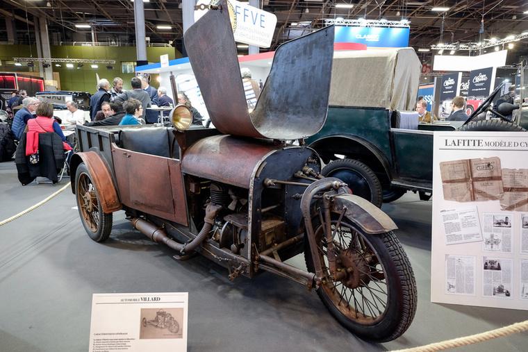 Nem csupán motorok és autók, de a kettő határvonalán egy ideig létezett cyclecar-ok is szerepeltek a Rétromobile-on