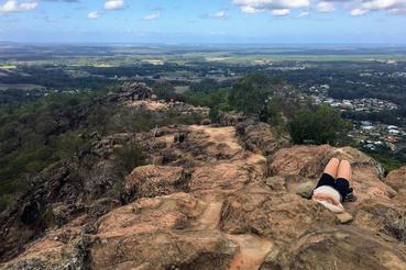 Kőnyugágy a Ngungun tetején