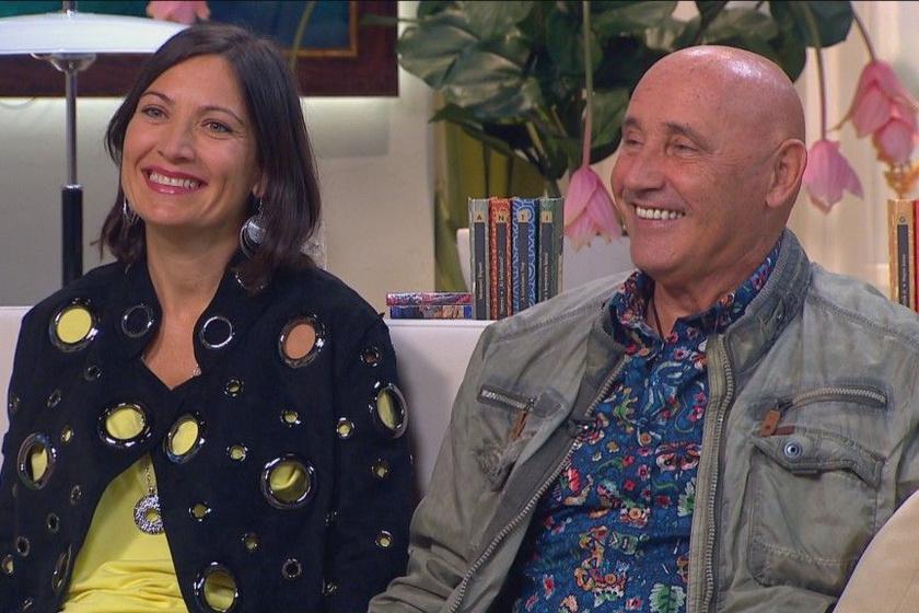 Pataky Attila és 23 évvel fiatalabb, gyönyörű felesége, Orsolya olykor a televízióban szerepel közösen.