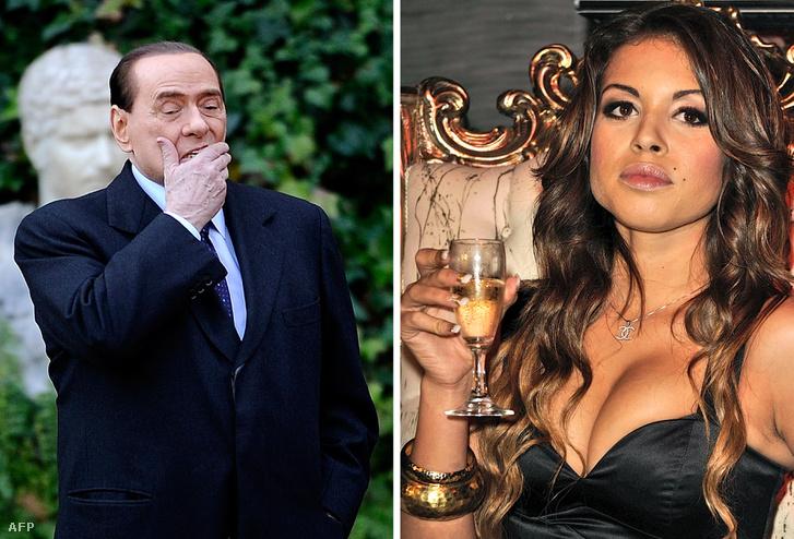 """Kombó kép Berlusconiról (balra) és Karima """"Ruby"""" El Mahroug-ról"""