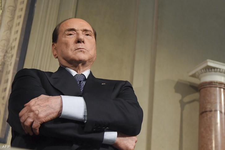 Silvio Berlusconi 2018. május 7-én, Rómában