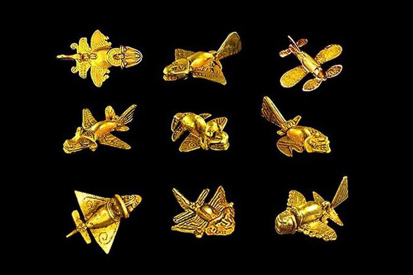 Az apró, párcentis aranytárgyak, melyek a kimbaja kultúra idején készültek, egykor medálok lehettek.