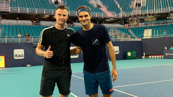 Fucsovics edzőpartnere Roger Federer