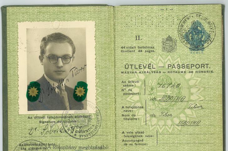 Szobotka Tibor útlevele
