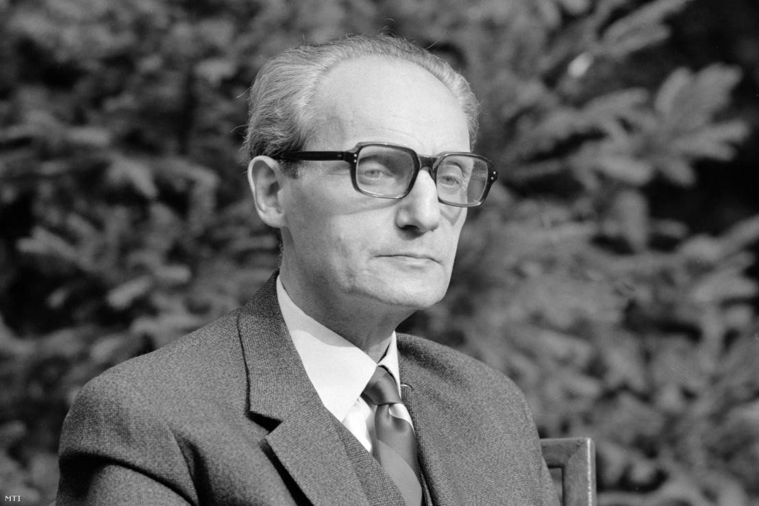 Archív felvétel Szobotka Tibor József Attila-díjas író, műfordító, irodalomtörténészről 1980 körül. A felvétel készítésének pontos dátuma és helyszíne ismeretlen.