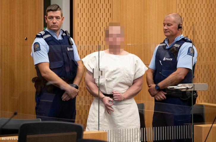 Brenton Tarrant a bíróságon 2019. március 16-án.