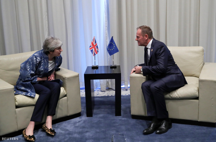 Theresa May és Donald Tusk 2019. február 24-én
