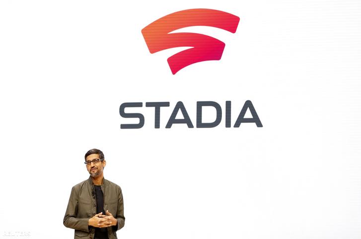 A Google vezérigazgatója, Sundar Pichai a Stadia bemutatóján