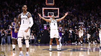 NBA-történelmi fordítás után, 8 tizeddel a vége előtt szerzett kosárral nyert a Nets