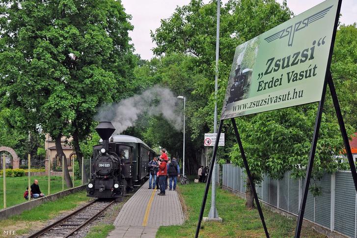 A debreceni majális egyik eseményeként járatba állították a Zsuzsi Erdei Vasút 1923-ban gyártott gőzösét 2017. május 1-jén.