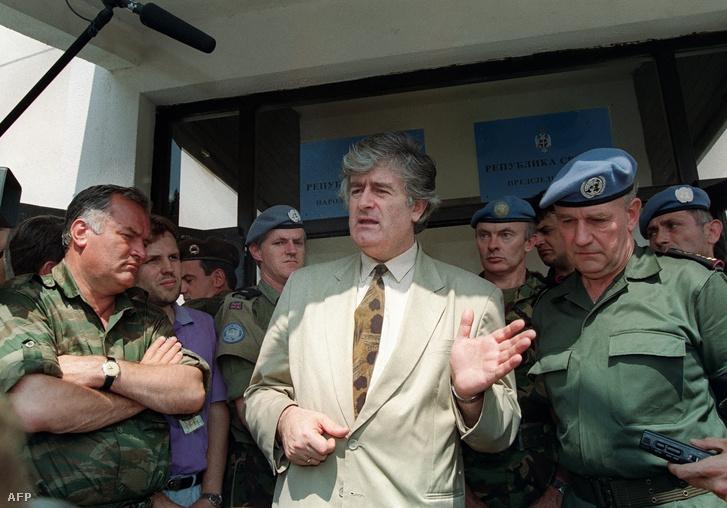 Radovan Karadžić-ról készült kép 1993. augusztus 5-én