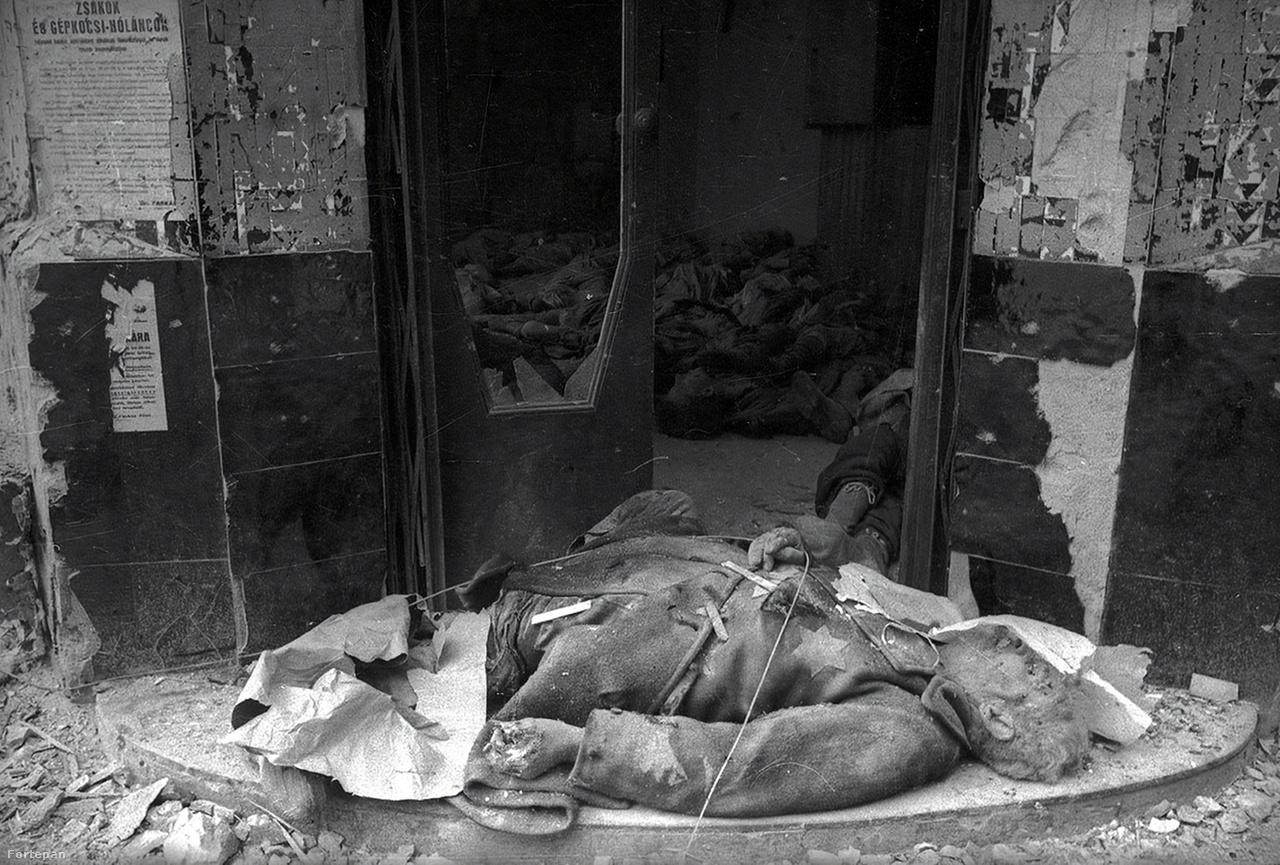 """Ismeretlen.Haldej visszaemlékezésében viszont beszélt a budapesti gettó épületeiben felhalmozott holttestekről. A sárga csillagos holttest is ezt valószínűsíti.Hiába a világháborús fotók, a Sztálin-portrék, 1948-tól beindult a zsidók elleni szovjet kampány. """"Kozmopolita"""" – ez lett az eufemisztikus jelző. Haldejt az összes zsidóval együtt – a nemzetiségi kategóriaként ezt számon tartották a személyi iratokon – kirúgták a TASZSZ-tól, minden magyarázat nélkül.A kirúgáskor ijedtében rengeteg fotóját megsemmisítette a moszkvai zsidó színházról is. Csak a Szovjetunió felbomlása után lett nyilvános az irat, amely szerint Haldej a KGB vizsgálata alapján politikailag nem megbízható."""