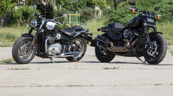 Összehasonlító: Harley-Davidson Fat Bob 107 vs. Triumph Bonneville Speedmaster