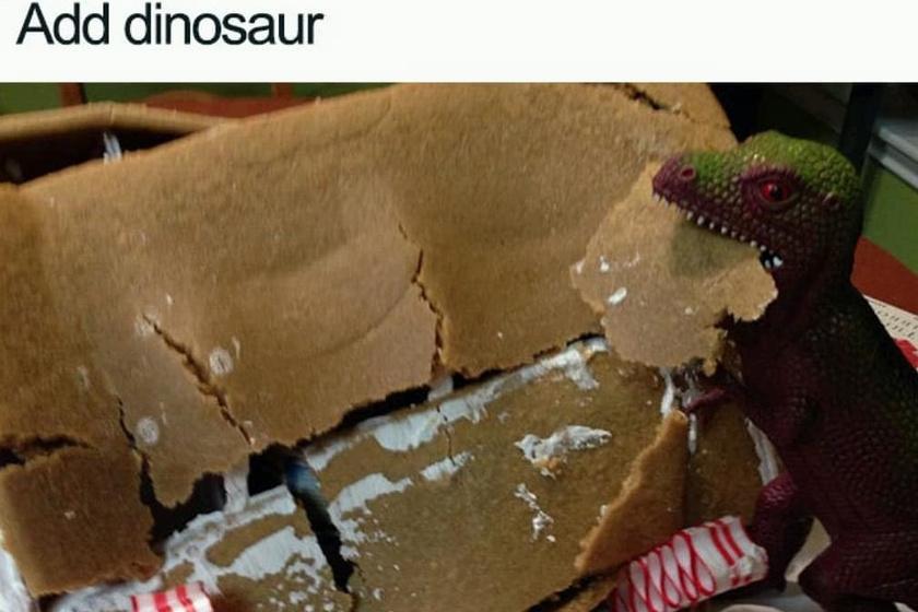 Elrontottad a mézeskalácsot? Semmi gond, fogd a dinoszauruszra!