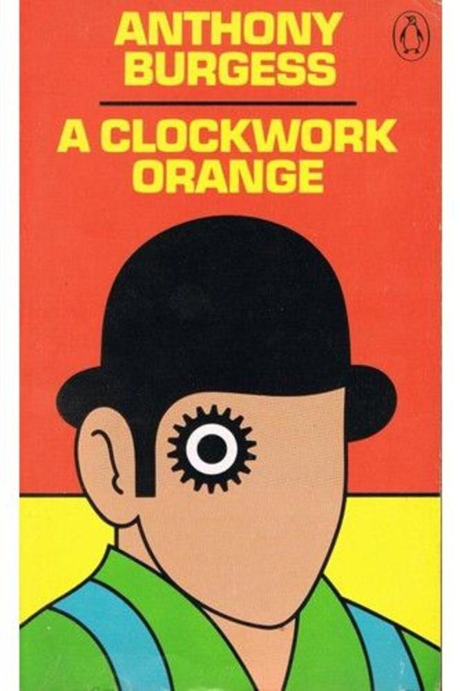 Anthony Burgess: Gépnarancs.                         Ahogy a 2001-et, úgy Burgess nehéz nyelvezetű, de elképesztő mondanivalóval bíró regényét is a legendás rendező, Stanley Kubrick vitte filmre
