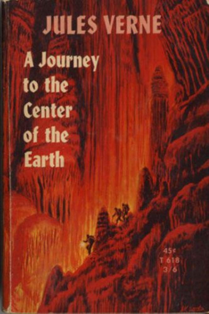 Jules Verne: Utazás a Föld középpontja felé.                         A sci-fi regények ősatyjának egyik leghíresebbike, amely 1864-ben látott napvilágot