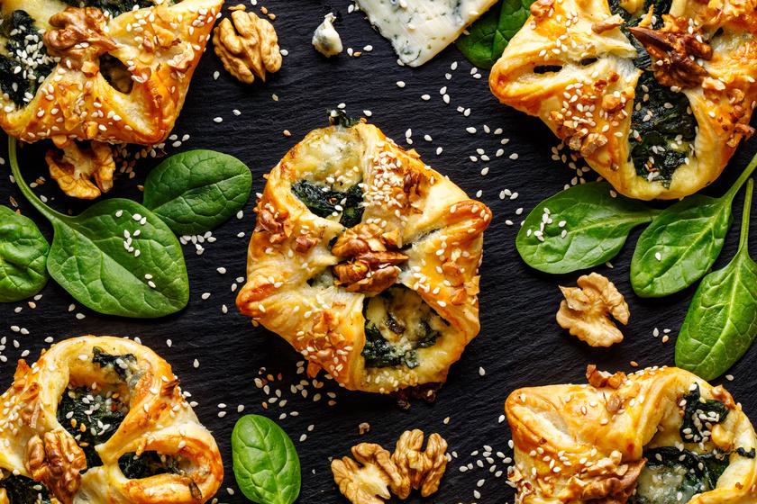 Roppanós spenótos-sajtos tésztabatyu: ínyenc falatok pofonegyszerűen