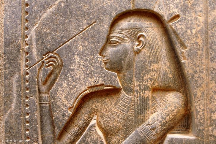 Szesat ábrázolás az egyiptomi luxori templomban