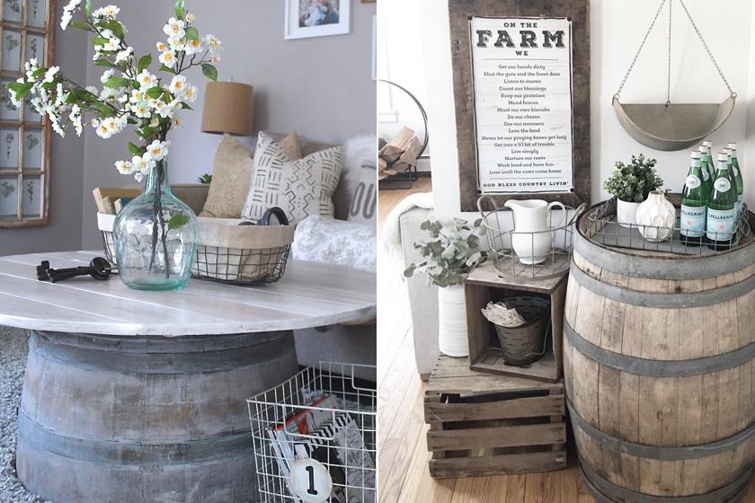 Egy régi hordót romantikus vagy vintage hatású darabként is bevethetsz otthonodban, egy kis felületkezelés és festés után praktikus asztalként hasznosíthatod újra.