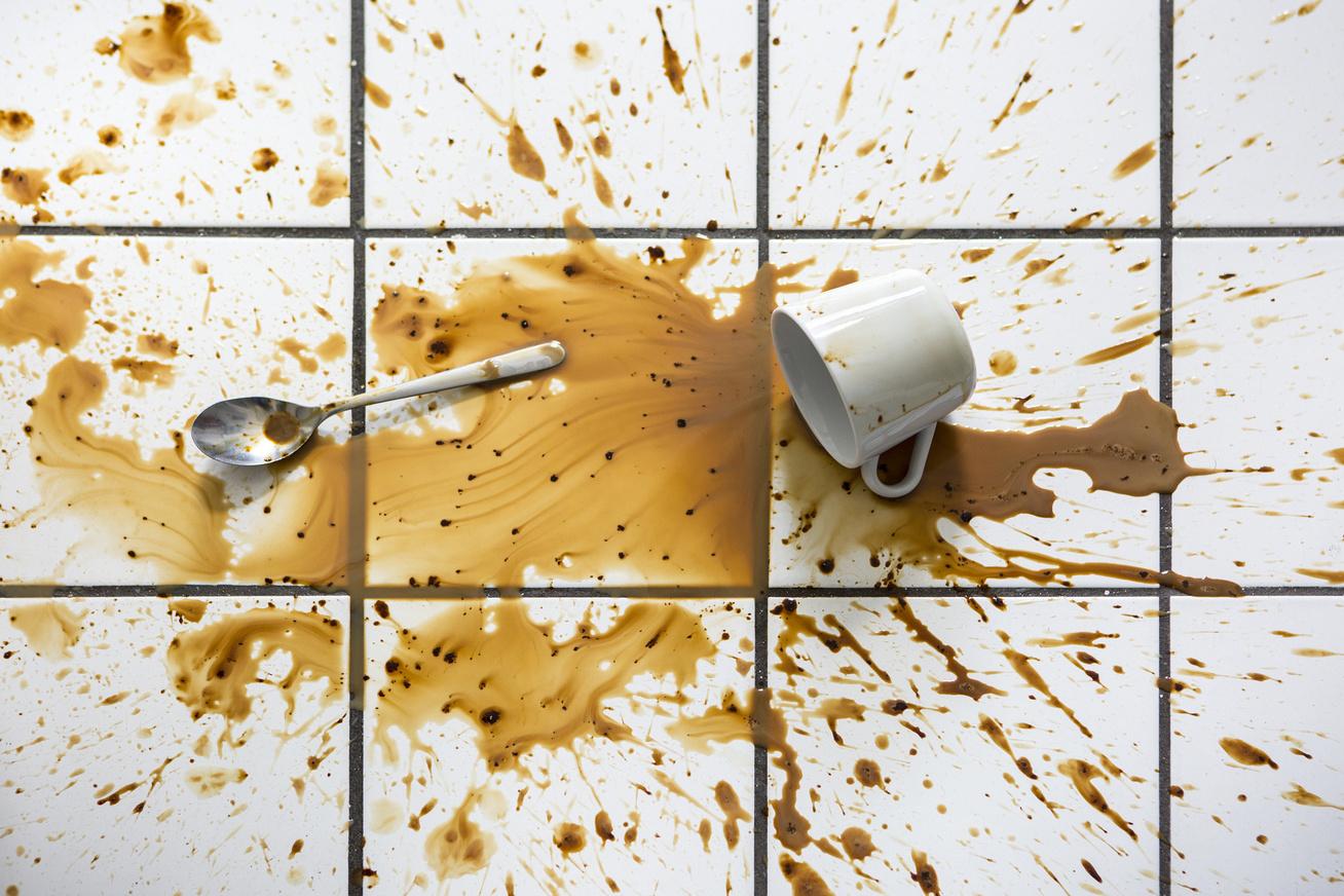 kávéfolt kiömlött kávé