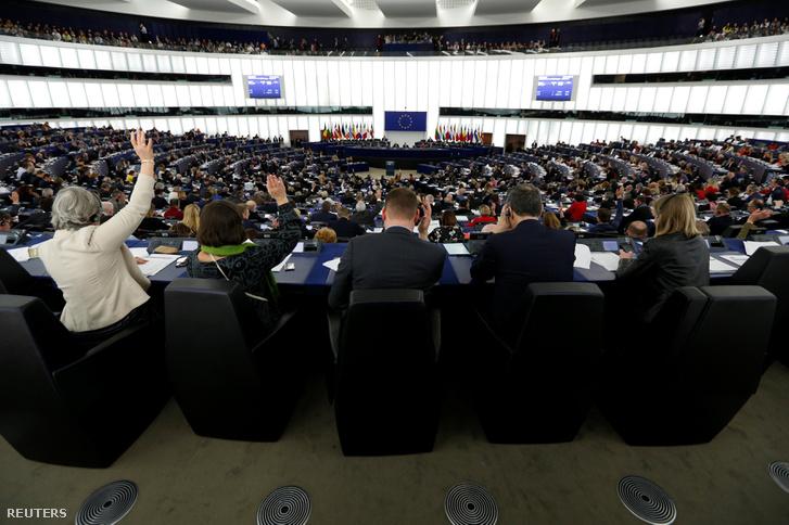 Szavazás az Európai Parlamentben 2019. március 14-én