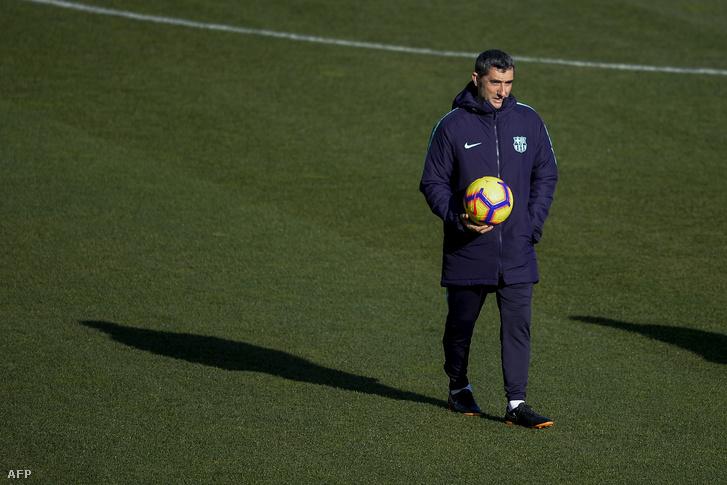 Valverde edző, amikor volt kinek dobni a labdát