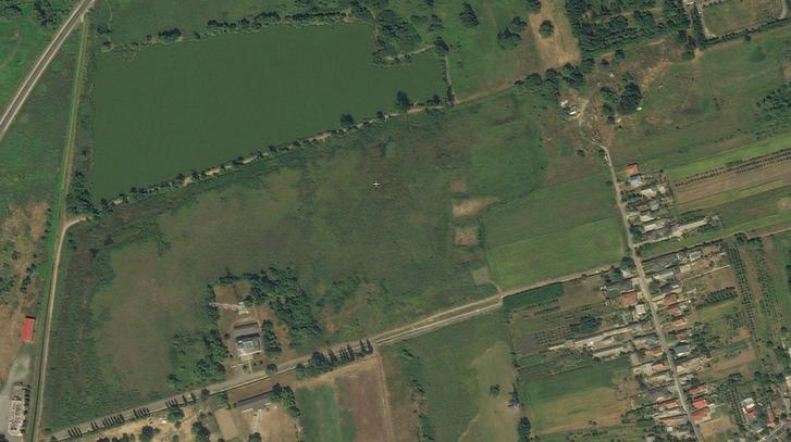 A tó helye 2009-ben. (Forrás: Microsoft Bing Maps)