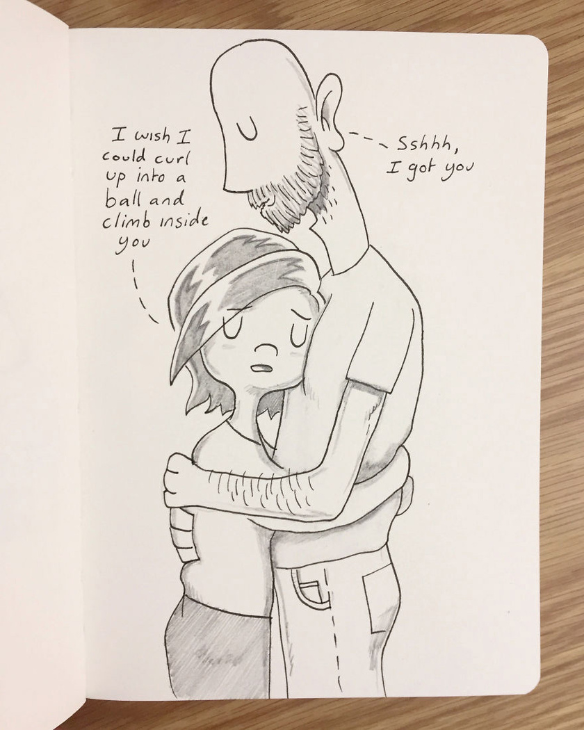 - Bárcsak össze tudnék gömbölyödni, mint egy labda, és beléd bújhatnék. - Ne aggódj, itt vagyok veled. Amikor Kellie nehéz időszakot élt át, Pete mindenhogy támogatni próbálta.