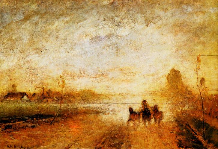 Munkácsy Mihály Poros út I. című festménye