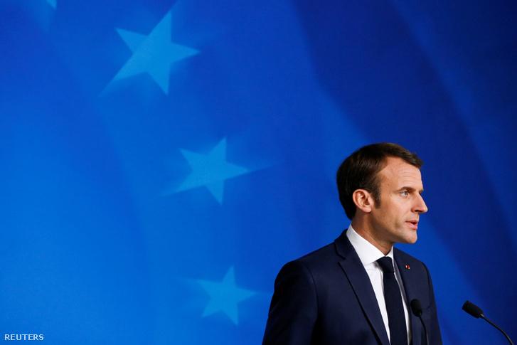 Emmanuel Macron Brüsszelben 2019. március 22-én