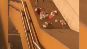 Elege lett az egyik utasnak abból, hogy nem takarítanak, összeszedte a szemetet a Kőbánya-Kispest pályaudvarnál