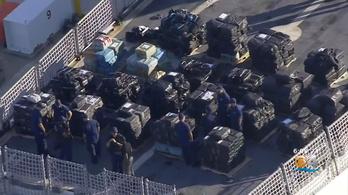 Több százmillió dolláros kokainszállítmányt foglaltak Miamiban