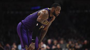 Hatalmas blama LeBronnak, biztosan lemarad az NBA rájátszásáról a Lakers