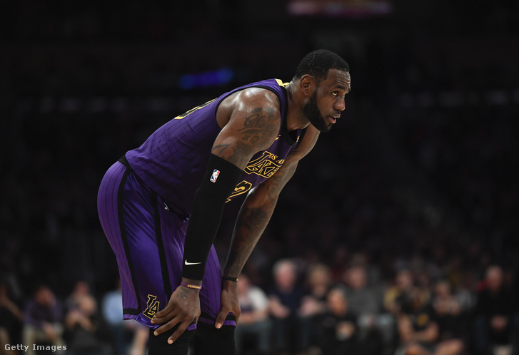 LeBron James a Los Angeles Lakers - Brooklyn Nets mérkőzésen, a los angelesi Staples Centerben 2019. március 22-én