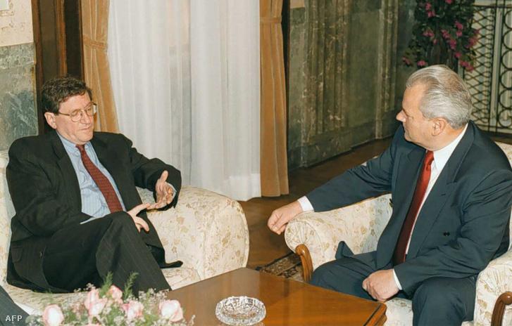 Richard Holbrooke és Slobodan Milošević