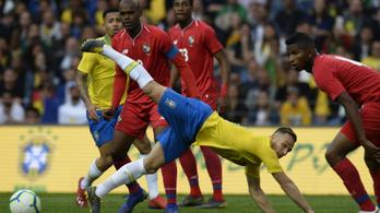 Brazília már elszokott a kínos meccsektől, erre jött Panama